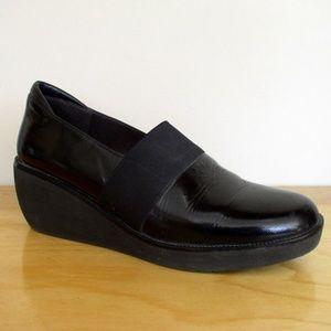 Donald J. Pliner Nocol Black Patent Wedge Loafer